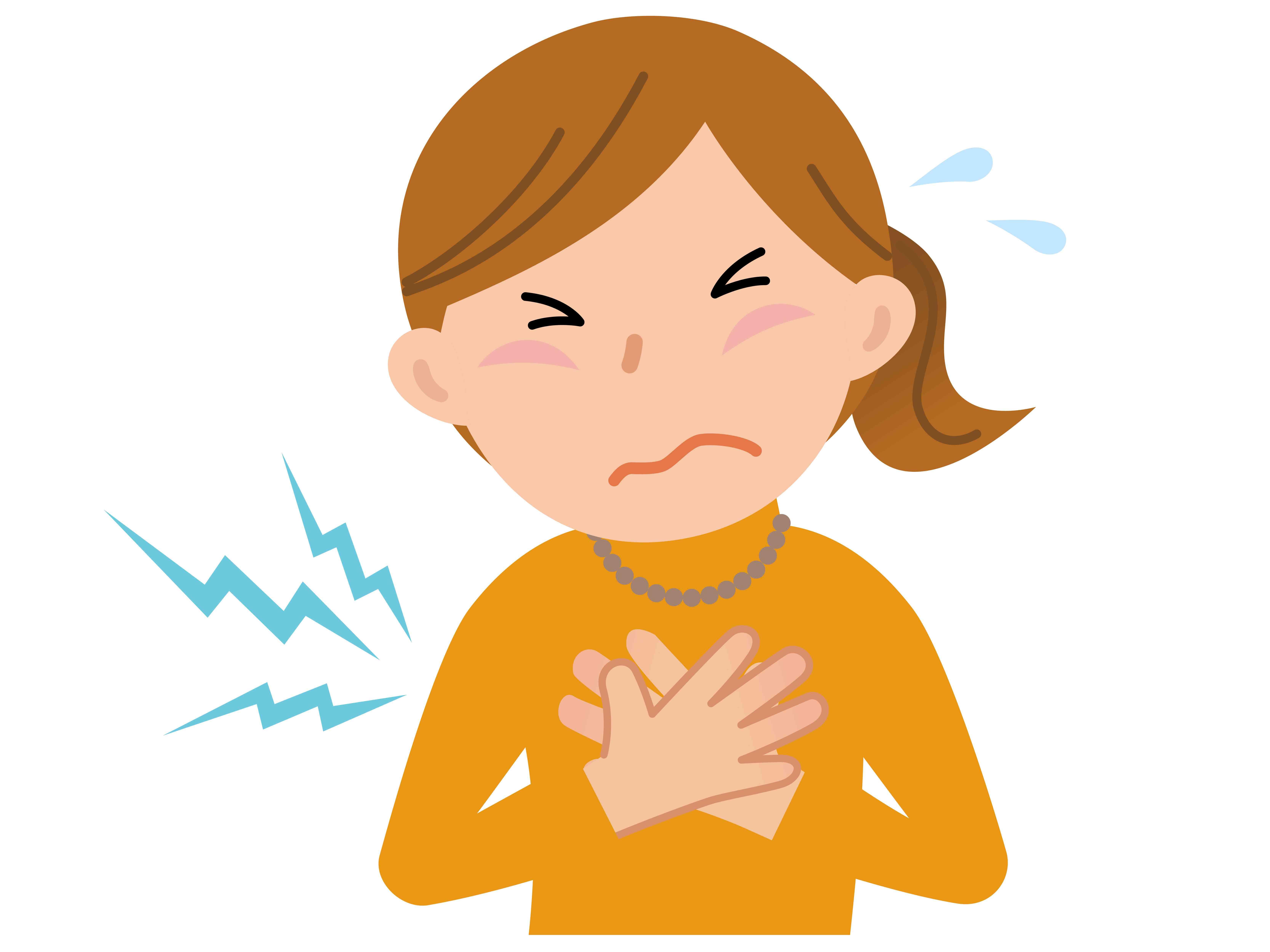 更年期障害の動悸イメージ図